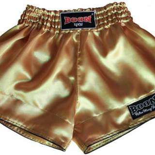 Authentic Boon Sports Retro Muay Thai Shorts (Gold)