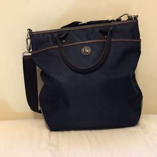 Lancel 藍色帆布袋 Canvas bag