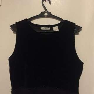 Ann Taylor Velvet Dress (black)