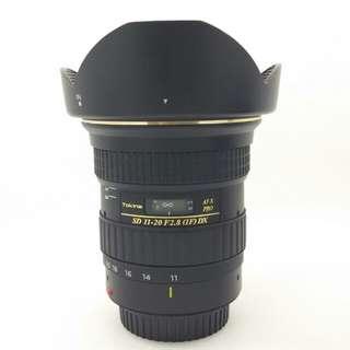 Tokina SD 11-20mm F2.8