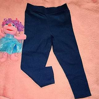 Blue green Jeggings 3-4y