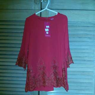 Kids Red Baju Kurung