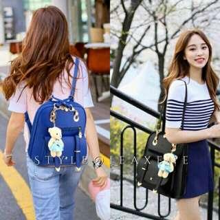 Cleone Backpack/Sling bag w/ teddy