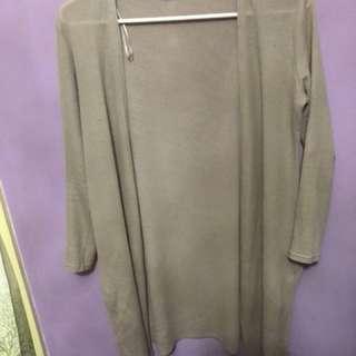 Dusty nude thin cardigan