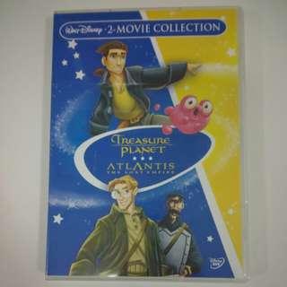 DVD Disney 2 Movies - Treasure Planet & Atlantis