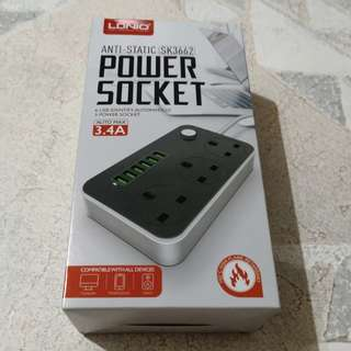 LDNIO POWER SOCKET WITH 6 USB