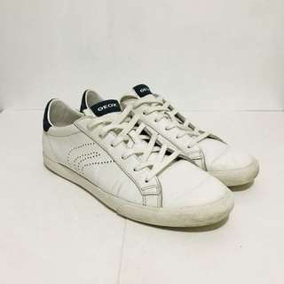 Geox White Sneakers Size 11