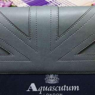 Aquascutum 灰色銀包
