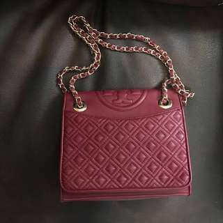 Tory burch fleming maroon