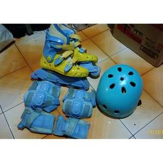 直排輪鞋組-  兒童用 ( 含全套護具 )