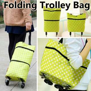 Shopping bag/Foldable Trolley Bag /Portable Shopping Bag with Wheel/Recycle Travel Eco Friendly Bag