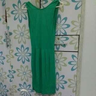 Mango green dress