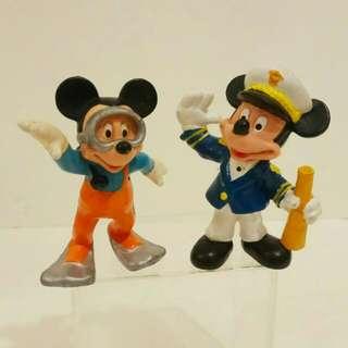 那些年,德國製迪士尼米奇公仔2隻  (歲月珍藏品)