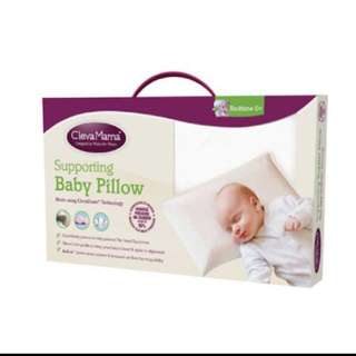 Clevamama Clevafoam Baby Pillow + Pink Pillowcase
