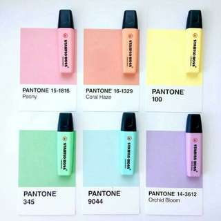 Stabilo Highlighters Pastel Collection