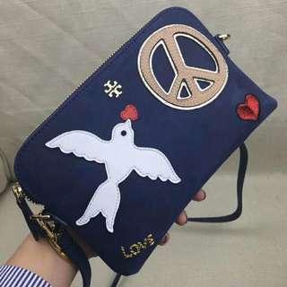 Tory Burch Mini Cross Body Bag Blue