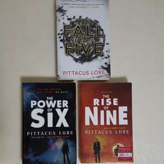Pittacus Lore 5, 6 and 9 (3 for $10)