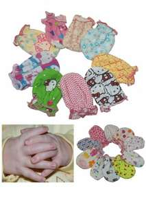 NEWBORN BABY GIRL COTTON MITTENS(1PAIR/PACK)-ASSORTED