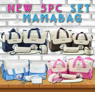 New 5 pcs Set MamaBag
