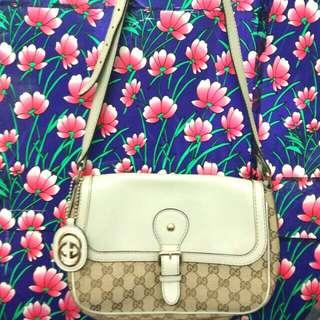 新款牛皮Gucci斜揹袋(止在清袋不議價)