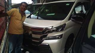 Vellfire 2.5 zg full spec habis unreg year 2015