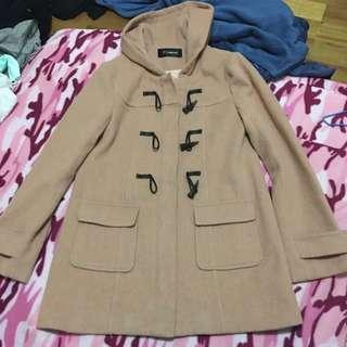 混羊毛大衣