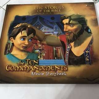 Epic stories of the bible: the Ten Commandments movie storybook