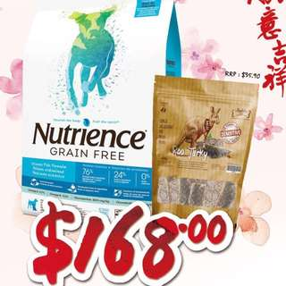 Nutrience Ocean + Absolute Roo Promo $168 free delivery