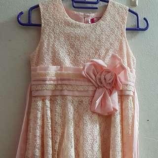 Lace Dress peach