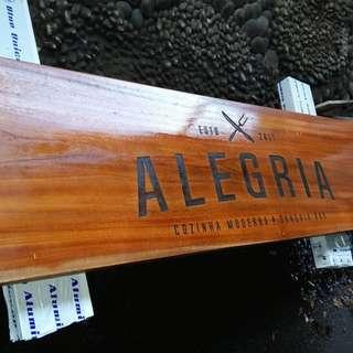 Wood engrave signage
