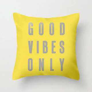 Good Vibes Only Text Cushion Pillow Cover