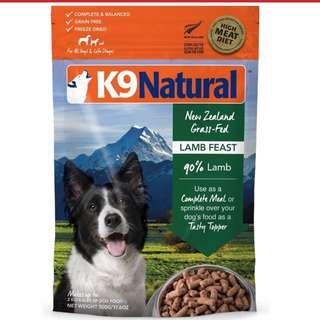 K9 freezed dried lamb 1.8kg 2pkt-$299