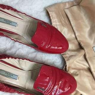 Prada Red Flats