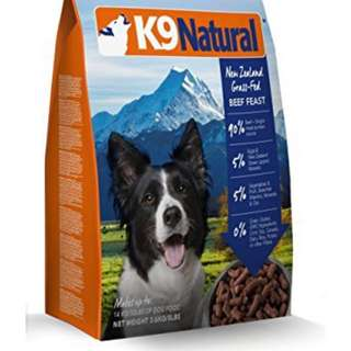 K9 freezed dried beef 1.8kg 2pkt-$299 free delivery
