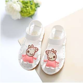 Peppa pig white sandal baby girl