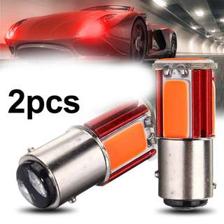 RED 1157 COB LED Car Tail Rear Stop Brake Light Bulbs