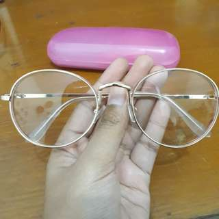 Gold Metal Glasses Frame