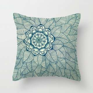 Retro Flower Floral Pattern Lines Cushion Covers