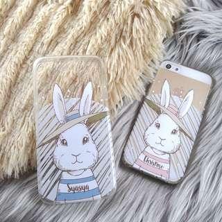 Custom Case Casing HP - Bunny Couple