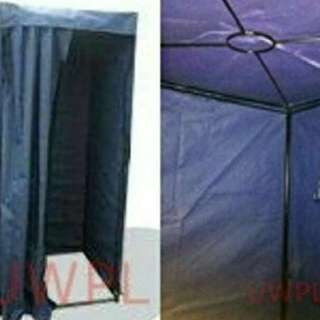 Portable fitting room/tent in Navy Blue