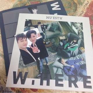 NU'EST w where you at 專輯/雙人小咭