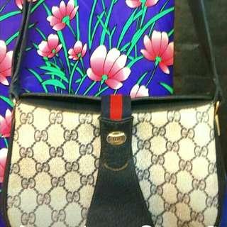 經典Gucci中古款斜揹袋(已絕版不議價)