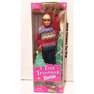 Mattel 1992年 tree trimming Barbie 絕版 古董 芭比娃娃 全新未拆 盒裝 老芭比