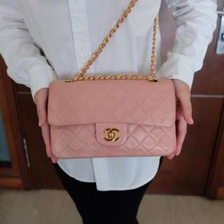 Vintage Chanel Medium Pink Classic Flap Bag