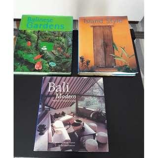 BUY 3 Coffee Table books on Bali.. Bargain price !