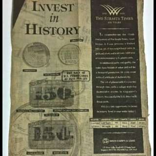 Invest in History - THE STRAITS TIMES 150 YEARS (1845 - 1995)