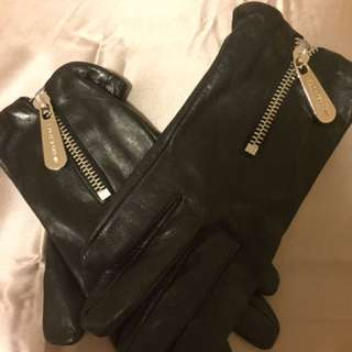 Michael Kors leather gloves size S