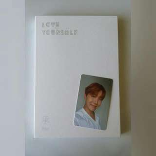 BTS LOVE YOURSELF HER ALBUM W/ J-HOPE PHOTOCARD & POSTER