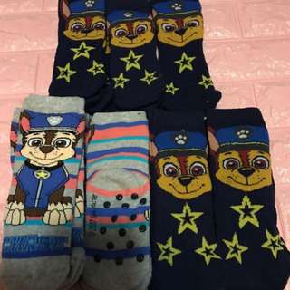 Paw Patrol kids sock anti slip type brand new size left 2-4yrs (4pairs chase black) 4-6yrs old  and 6-7yrs old (chase black one set only) buy 3 for $16.90