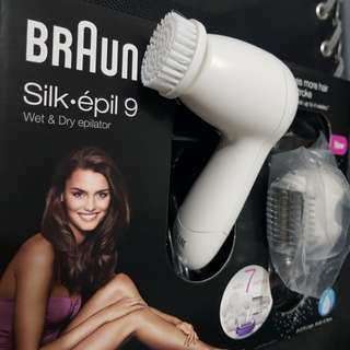 Braun Silk-épil 9 Face Cleansing Brush and Shaver Head Attachment (Epilator not included)